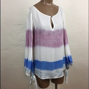 🐴 HOLDING HORSES Hombre DYED Scarf Sleeve BLOUSE